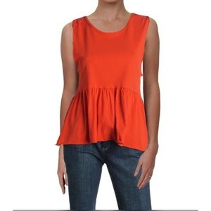 We the Free from Free People Orange Peplum Top